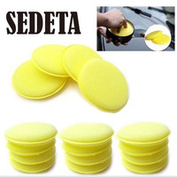 12 pcs Hand Soft Wax Yellow Sponge Pad Buffer for Car Detailing Care Wash Clean New