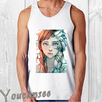 disney frozen fan art- men tank top ---print screen tank top for men, Awesome tank top for Man,Size S --- 3XL