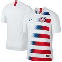 USMNT Nike 2018 Home Authentic Vapor Match Blank Jersey ¨C White/Red