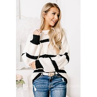 Headed For Greatness Soft Knit Striped Sweater
