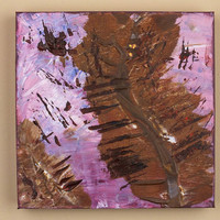 Original Abstract Art Painting Lilacs Browns Propogation Acrylic on Canvas
