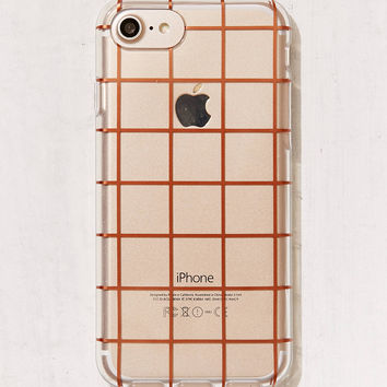 Rose Gold Grid iPhone 7/6 Case | Urban Outfitters