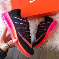 Nike Air Max black/pink Fashion Running Sport Sneakers Shoes