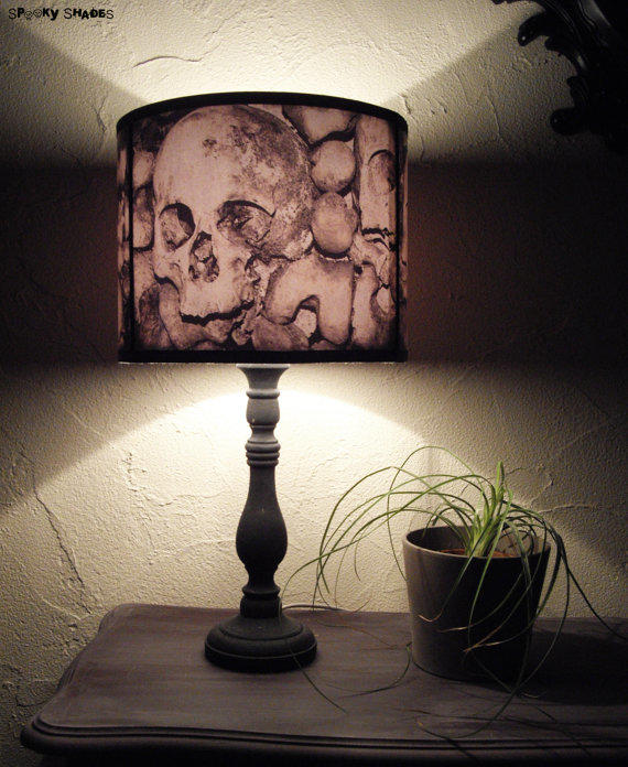 Paris catacombs skull lamp shade from spooky shades home Home decorators lamp shades