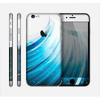 The Black and Blue Highlighted HD Wave Skin for the Apple iPhone 6