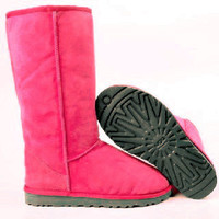 """""""UGG"""" Women Fashion Wool Snow Boots simple high boots Roses"""