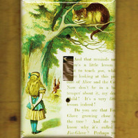 Alice in Wonderland Switchplate cover by TurnMeOnArt on Etsy