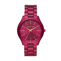 Michael Kors Slim Runway Three-Hand Watch Red