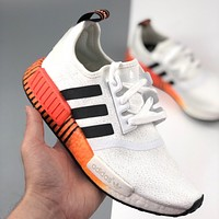 Adidas NMD R1 V2 Boost knitted mesh casual sports running shoes