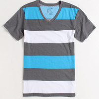 On The Byas Trey Stripe V-Neck Tee at PacSun.com