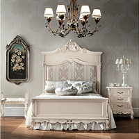 Full size bed with upholstered headboard 12204 Casanova Collection by Modenese Gastone group