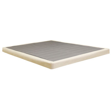 """Classic Brands 4"""" Low Profile Instant Foundation - Easy To Assemble Box Spring for Bed Mattress"""