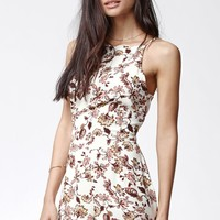 Kendall & Kylie Floral Print Scallop Hem Romper - Womens Dress - Multi