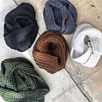 Solid Knit Infinity Scarf