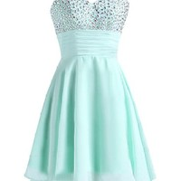 Sunvary Short Chiffon Cocktail Homecoming Dresses for Juniors 2016