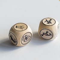 Wooden sex dice Honeymoon gift Wedding gift Bridal shower gift Sex game Personalized bridal sex dice