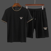 Versace T-shirt Shorts Two Pieces