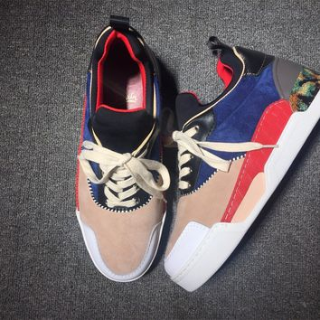 DCCK Christian Louboutin red low-top sneakers for men and women 90520