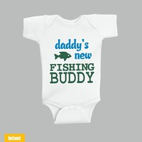 Daddy's New Fishing Buddy - Infant Lap Shoulder Bodysuit