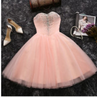 2019 new pink bridesmaid dress skirt bra sisters show hosted in spring and summer homecoming dress