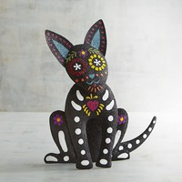 Day of The Dead Sparkle Dog Figurine