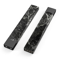 Black Scratched Marble - Premium Decal Protective Skin-Wrap Sticker compatible with the Juul Labs vaping device