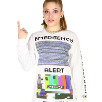 EMERGENCY ALERT LONG SLEEVE TEE