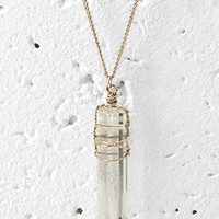 Wire-Wrapped Faux Gemstone Necklace