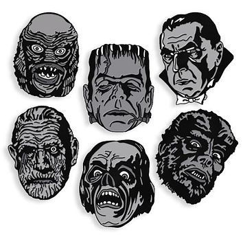 Black & White Maniac Monster Pins - Shop Jeen - powered by Hingeto