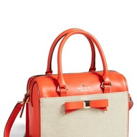 kate spade new york 'holly street - ashton' leather & fabric crossbody satchel