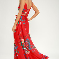 Bloom With a View Red Two-Piece Maxi Dress