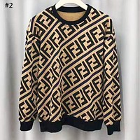 Fendi 2019 new double F letter round neck sweater #2