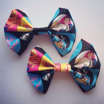Old Fashion Style Barbie Fabric Hair Bow
