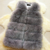 Club Women's Fashion Korean Patchwork Fur Ladies Tops Thicken Jacket [9328122756]