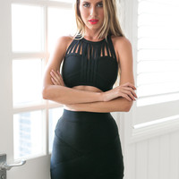 Flirty Fun Bandage Top in Black | BLACKSWALLOW Fashion Online Shopping - Blackswallow Boutique