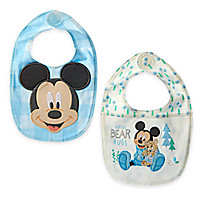 Mickey Mouse Bib Set for Baby - 2-Pack