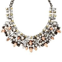 Mixed Metal, Pearl & Jewel Statement Necklace - Multi