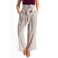 Simplicity High Waisted Cropped Pants (Taupe)