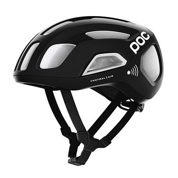 POC, Ventral Air Spin NFC Bike Helmet for Road Cycling Uranium Black/Hydrogen White Small
