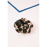 Leopard Scrunchie, Tan/Black