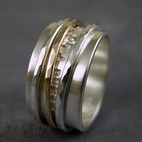 Personalized spinner ring made from sterling by TwoSilverMoons