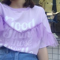 Women T shirt Harajuku Tops Tee Female Fashion Preppy Kawaii Letter Tshirt Ulzzang Summer T-shirt Dropshipping HT513