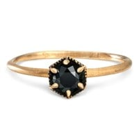 Catbird :: shop by category :: JEWELRY :: Wedding & Engagement :: Non-traditional :: Hexagon Ring, Black Diamond