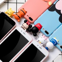 3D Cute Mickey Minnie Mouse Donald Duck phone Case For iphone 6 7 6s 8 Plus X 5s Cover for samsung galaxy S7 edge S8 note 8