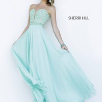 Sherri Hill 32180 Black/Nude 6