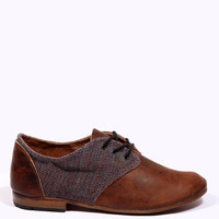 Urban Outfitters - Osborn Brown Cord & Suede Oxford Shoes