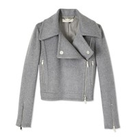 Stella McCartney Double Zipper Jacket - Grey Jacket - ShopBAZAAR