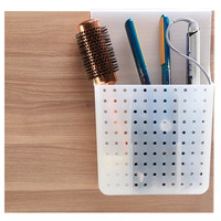 Over Door Hair Tools Organizer with Dividers Gray - Madesmart