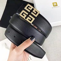 Givenchy New fashion pattern buckle leather couple belt width 3.8cm With Box