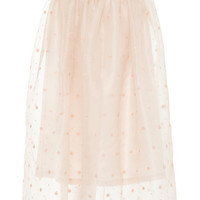 Holly Embroidered Silk-Organza Skirt